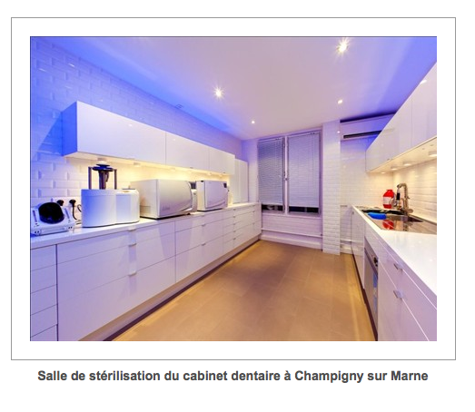 salle de stérilisation du cabinet dentaire à Champigny-Sur-Marne